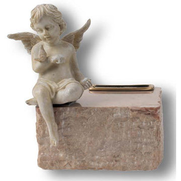 Angel & Cream Marble Infant Urn