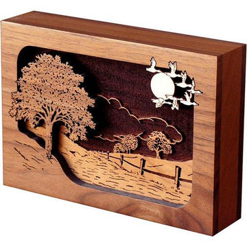 Road Home Wood Cremation  Keepsake