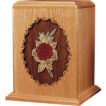 Rose Wood Handcrafted Urn