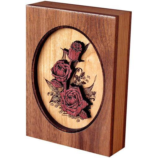 Rose Bouquet Wood Keepsake