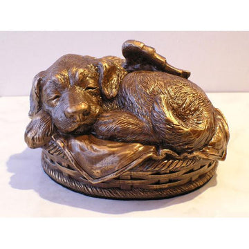 Dog Urn in Cold Cast Bronze
