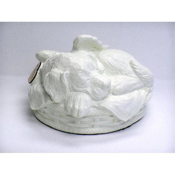 Dog Urn in Cold Cast Cultured Porcelain