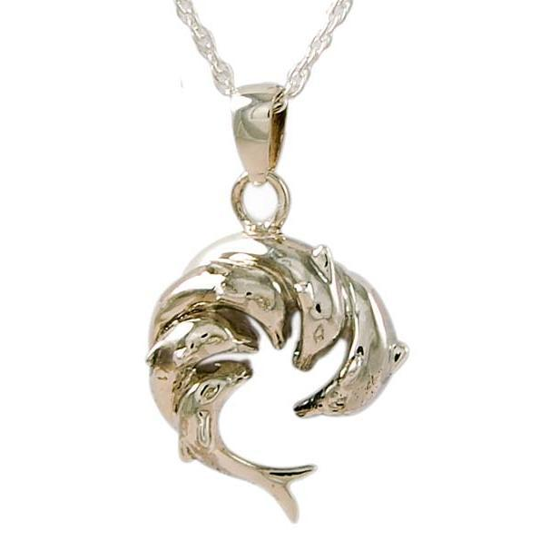Circle of Dolphins Sterling Silver Pendant