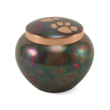 copper pet urn