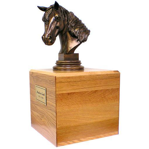 Horse Pet Urn in Wood