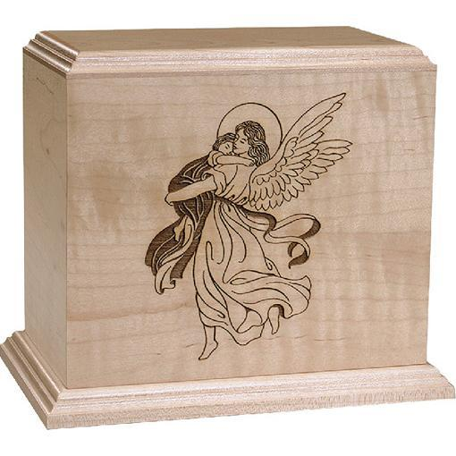 Angel and Child Maple Urn