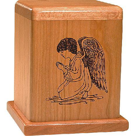 Praying Angel Urn in Cherry
