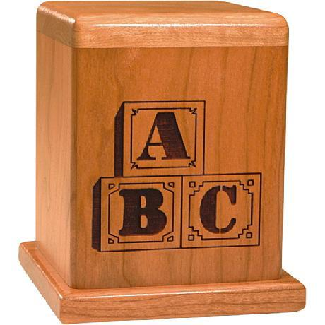 Letter Blocks Urn in Cherry