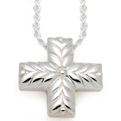 Short Leaves Cross Cremation Pendant