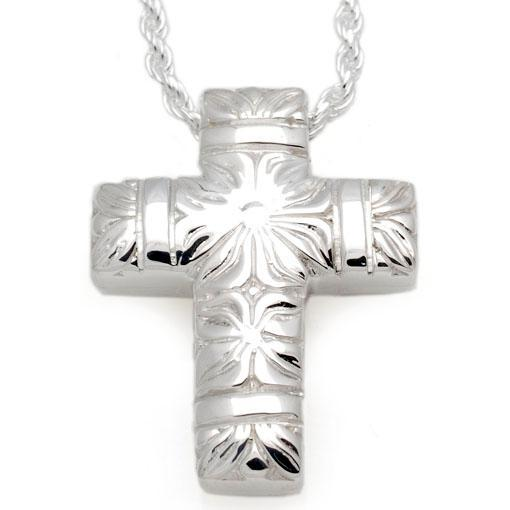 Flowers & Bands Cross Pendant