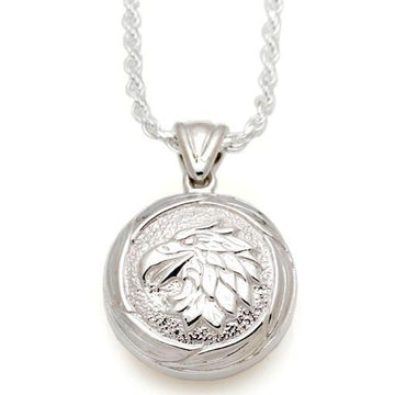 Round Eagle with Feather Frame Pendant