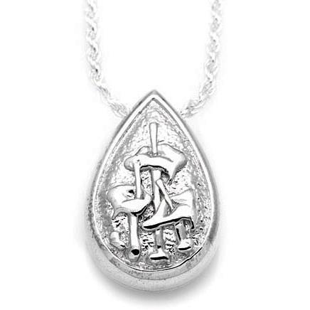 Teardrop Lillies Keepsake Pendant