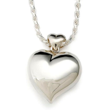 Offset Heart Sterling Silver Pendant