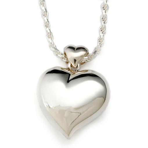 offset heart sterling silver pendant urn cremation jewelry