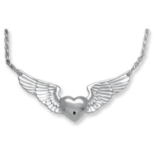 Heart with Wings Keepsake Pendant
