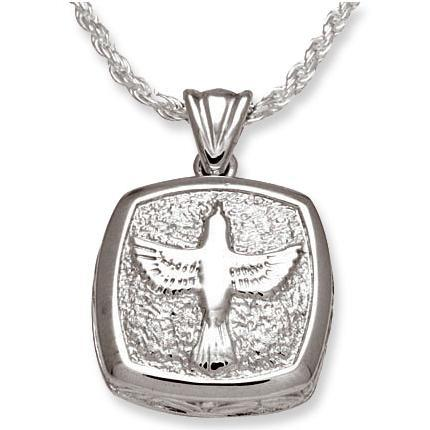 Cushion Dove Sterling Silver Pendant