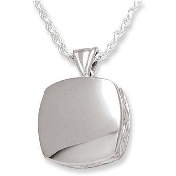 Cushion High Polish Keepsake Pendant