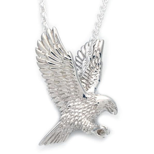 3D Eagle Sterling Silver Pendant