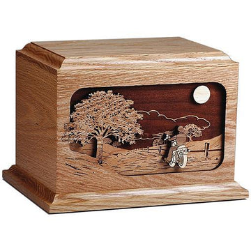 The Motorcycle Ride Home Wood Urn