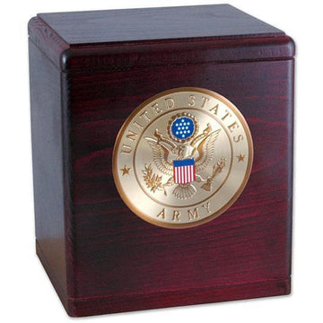 wood military cremation urn