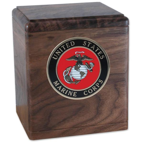 Freedom Wood Military Urn Walnut