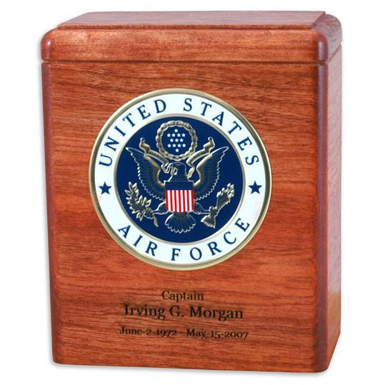 Freedom Wood Military Urn Cherry