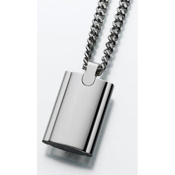 Flask in Stainless Steel Cremation Pendant
