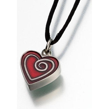 Heart Pewter Keepsake Pendant