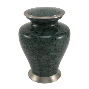 Gray Marble Metal Alloy Urn