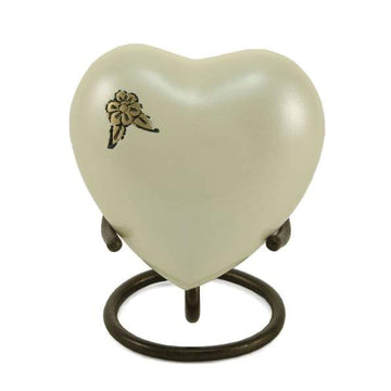 Artisan Pearl Metal Alloy Heart Keepsake