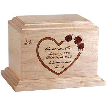 Heart Infant Wood Urn