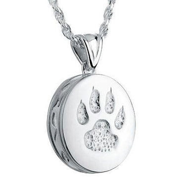 Round Cat Paw Pet Cremation Jewelry