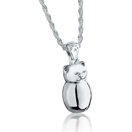 Plump Kitty Pet Cremation Jewelry