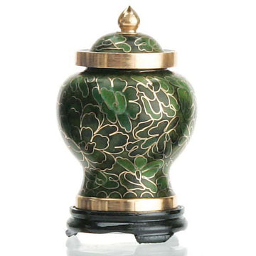 Forest Green Cloisonne Keepsake