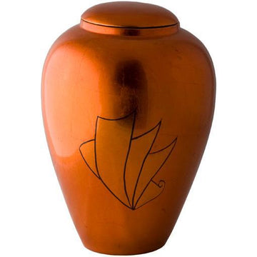 Autumn Hand Painted Urn