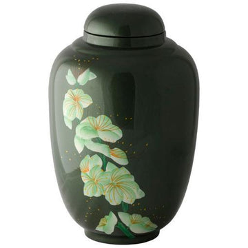 Dark Meadow Hand Painted Urn