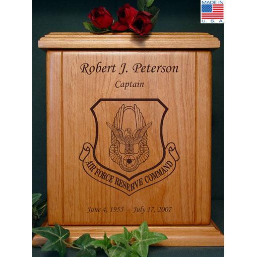 Air Force Reserve Wood Military Urn