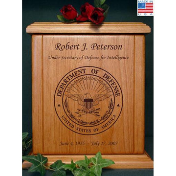 Military Wood Urn Department of Defense