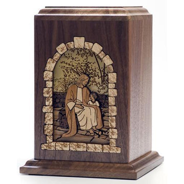 All God's Children Infant Wood Urn