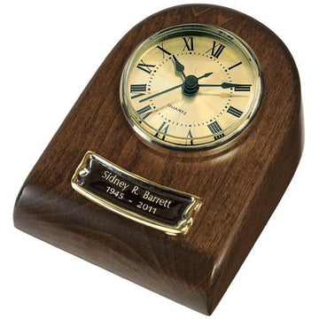 Chestnut Wood Mini Clock Keepsake
