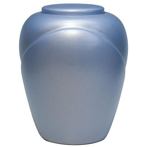 Sand and Gelatin Urn Traditional, Aqua Blue