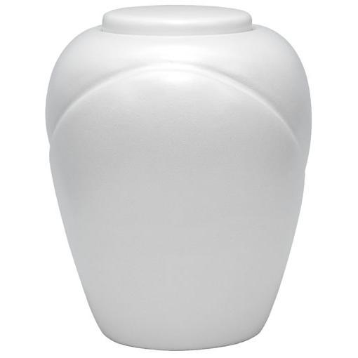 Sand and Gelatin Urn Traditional, Pearl