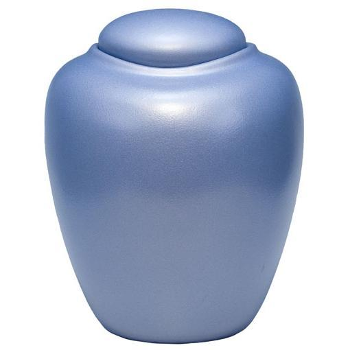 Sand and Gelatin Urn Oceane, Aqua Blue