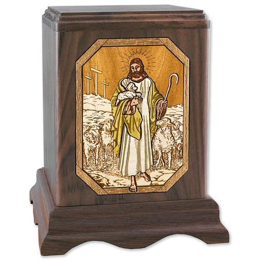 The Lord is My Shepherd Wood Urn