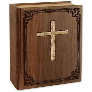 The Bible Companion Wood Urn