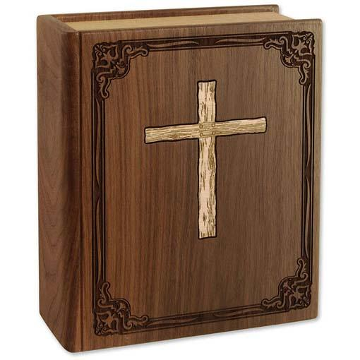 The Bible Wood Urn