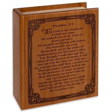 The Bible Psalm 23 Wood Urn