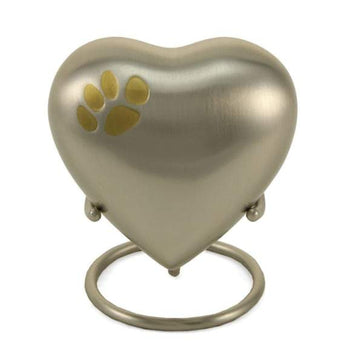 Paw Print Pewter Heart Keepsake