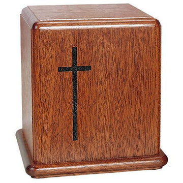 Cross Wood Urn