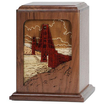Golden Gate Wood Urn